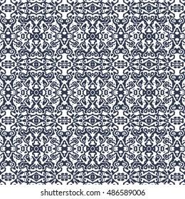 Vector boho chic seamless pattern. Elegant boho background for wallpaper, gift paper, fabric print, furniture, curtains. Boho design. Boho ornament. Boho black white.