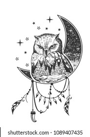 Owl Tattoo Images Stock Photos Vectors Shutterstock