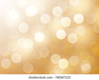 Vector bokeh abstract background with gold tone.