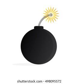 Vector Bomb With Cartoon Style