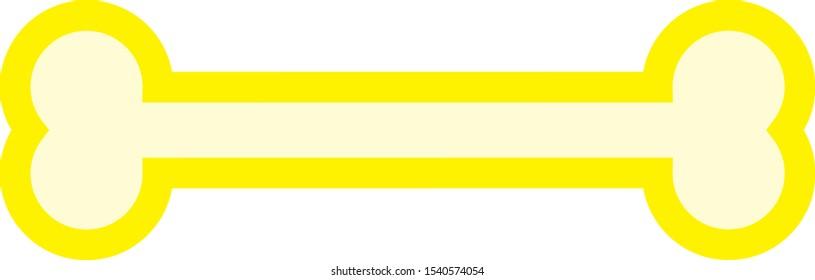 vector, bone shaped simple icon
