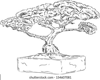 Bonsai Tree Drawing Images Stock Photos Vectors Shutterstock