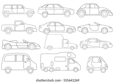 Car Coloring Page Images, Stock Photos & Vectors | Shutterstock