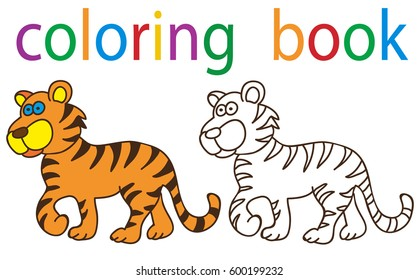 Tiger Coloring Book Images Stock Photos Vectors