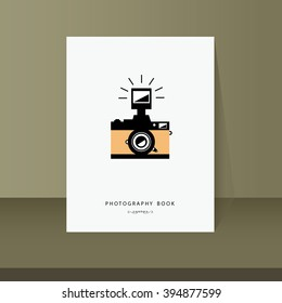 vector book cover for photography