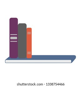 Vector of books on shelf with copy space