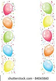 Vector border with balloons.