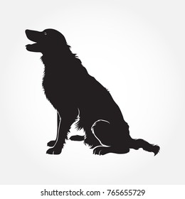 Vector Border Collie Dog Silhouettes.