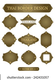 vector border design thai art