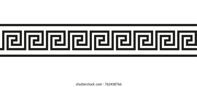 Vector border Greek ornament