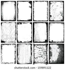 Vector Borders & Textures x 12