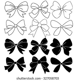 vector bow graphic collection