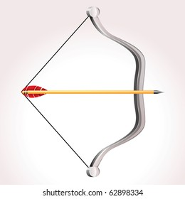 Vector bow weapon with arrow