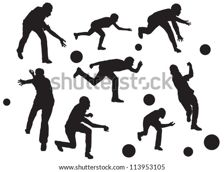 vector bowling silhouette stock vector royalty free 113953105
