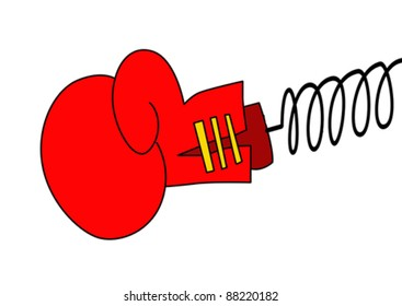 vector boxing glove on white background