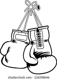 vector boxing gloves
