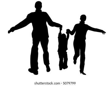 vector boy and parent's hands