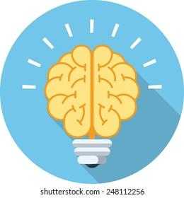 Vector Brain Bulb