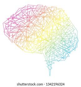 Vector Brain Concept. Neural network. Artificial Intelligence. Technology web background. Human Brain Vector Concept