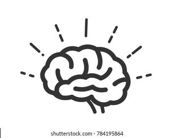 vector brain icon