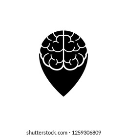 Vector Brain Point Place Logo design template.