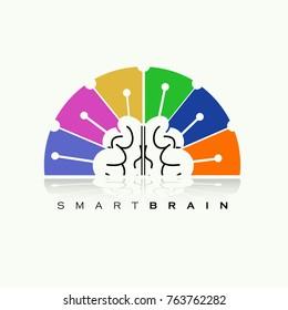Vector of brain spectrum logo symbol or icon