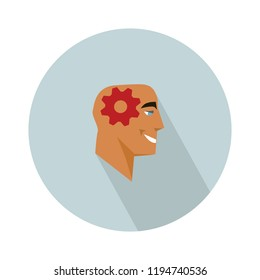vector brain storming icon with creative icon. illustration of creative icon with brain storming concept for web