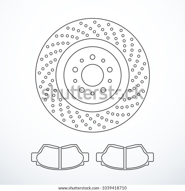 Vector brake disc and pads isolated