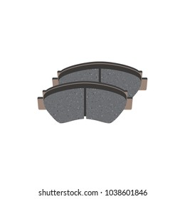 Vector brake pads isolated
