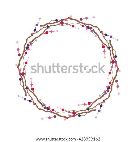 vector branch frame branch wreath template branch stock vector