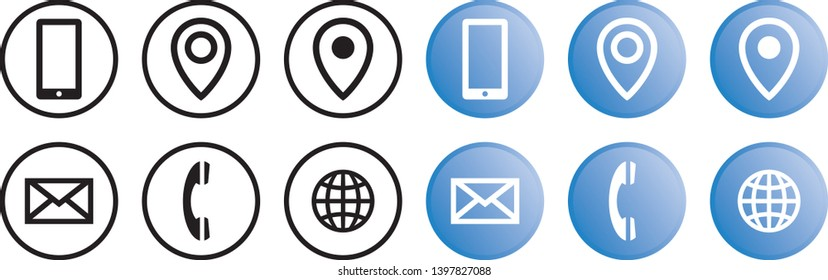 Vector brand identity contact info icons