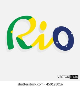Vector Brazil Summer Games 2016. Flat design graphic clip art abstract illustration.