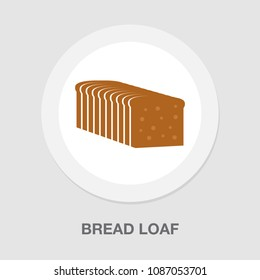 vector bread loaf - bakery symbol, nutrition illustration icon