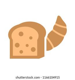 vector breakfast bread loaf - bakery symbol, nutrition illustration icon