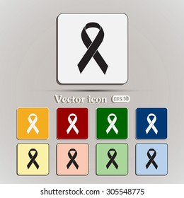 Vector breast cancer ribbon
