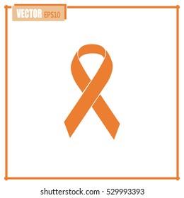Vector breast cancer ribbon