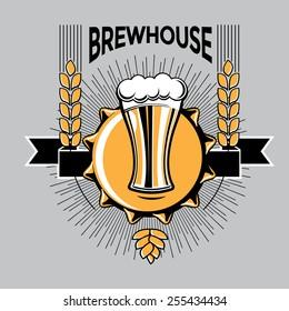 Vector brewery emblem
