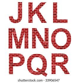 vector brick alphabet