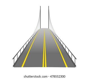 vector bridge silhouette symbol logo emblem outline illustration