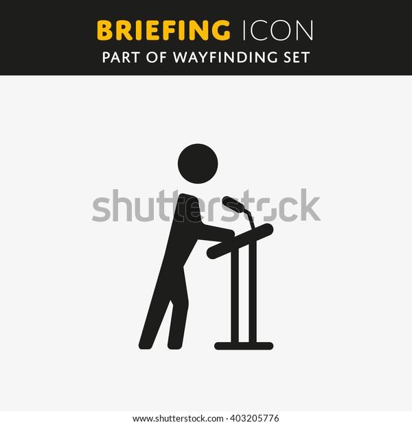Vector Briefing icon. Presentation sign. Lecture symbol.