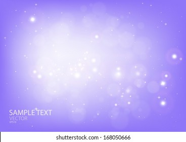 Vector bright abstract snow scene space - Snow and flare template background design illustration