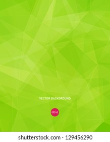 Vector bright green modern geometric background
