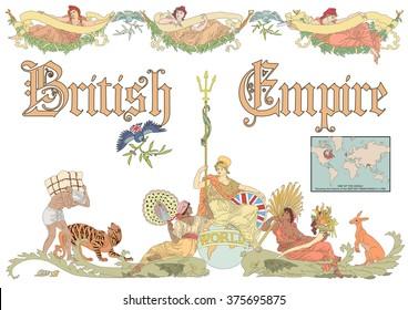 Vector British Empire in vintage style