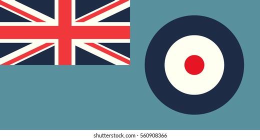 Vector BRITISH Royal Air Force Flag