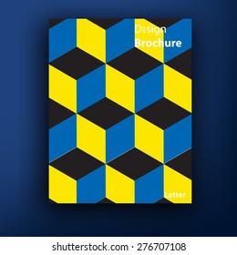 Vector brochure / booklet cover design templates collection A4