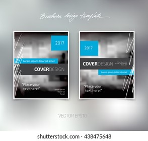 Vector brochure or booklet design template. Business concept. Flyer idea.