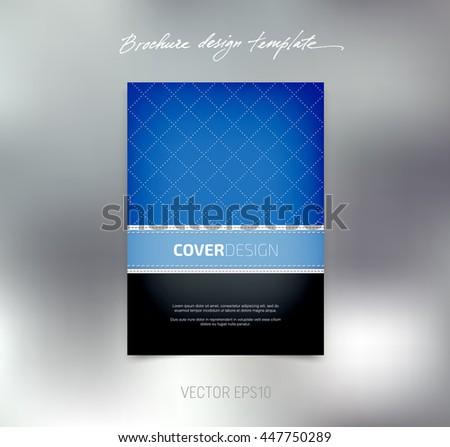 vector brochure booklet design template business stock vector
