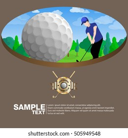 Vector brochure design page template golf club.Can use for business data report, presentation, web page, brochure, leaflet, flyer, poster and advertising.