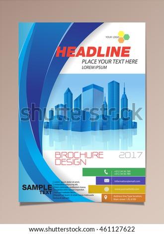vector brochure design page template building stock vector royalty