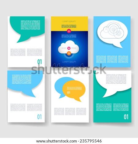 Vector Brochure Design Templates Collection Ad Image Vectorielle De